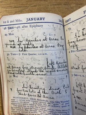 Lot 324 - World War I Diary. Diary of Arras casualty Private A. R. Hopgood, 1917