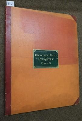 Lot 16 - Egypt. Description de l'Egypte, Antiquités volumes 3-4, 2nd edition, 1822