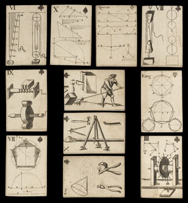 Lot 465 - Moxon (J., publisher). Geometrical Playing Cards, London, 1697