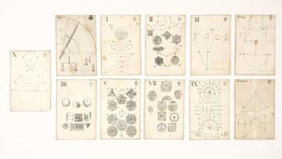 Lot 465 - Moxon (J., publisher). Geometrical Playing Cards, London, 1697