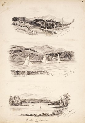 Lot 34 - Australia & Indonesia. Sketches by W. H. Rotheram Royal Engineers, 1886