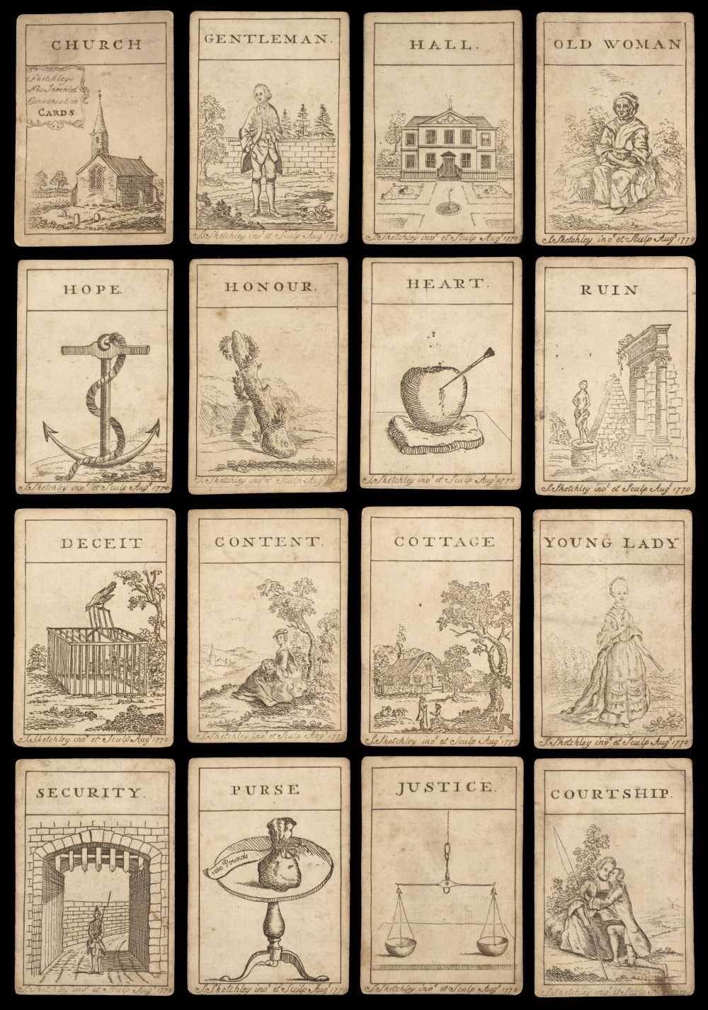 Lot 467 - Sketchley (James, publisher). New Invented Conversation Cards, 1770