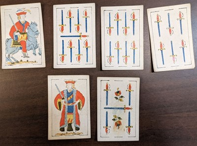 Lot 468 - Spanish playing cards. A deck of playing cards, Barcelona: Torras Y Sanmarti, 1831