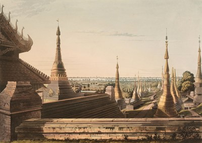 Lot 25 - Moore (Lieutenant Joseph). Nine plates from Views in Rangoon