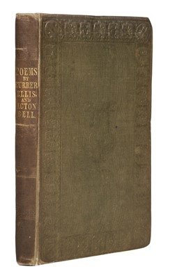 Lot 492 - Bronte (Charlotte, Emily & Anne). Poems by Currer, Ellis and Acton Bell, 1846
