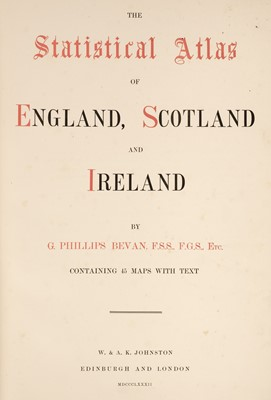 Lot 25 - Bevan (G. Phillips). The Statistical Atlas of England, Scotland and Ireland, 1882