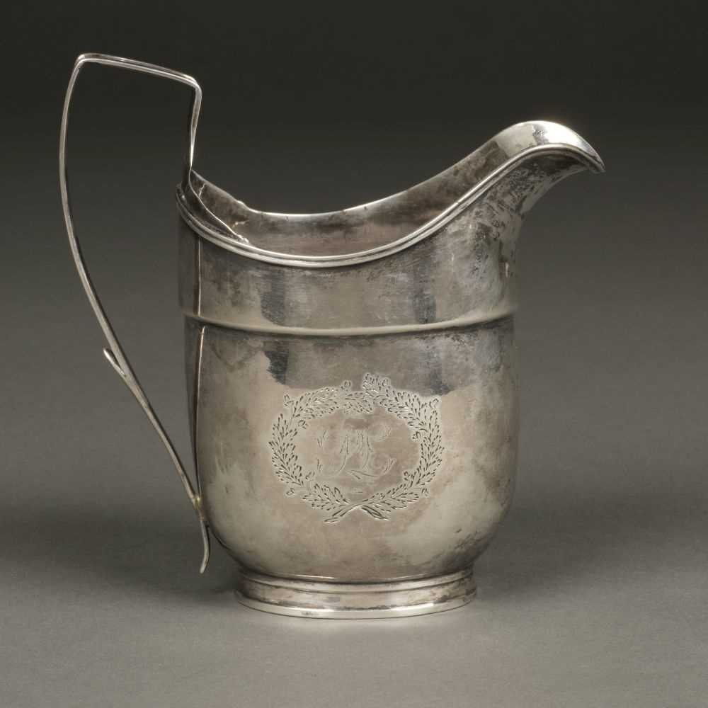 Lot 8 - American Silver. Silver milk jug by Robert Evans, Boston circa 1800