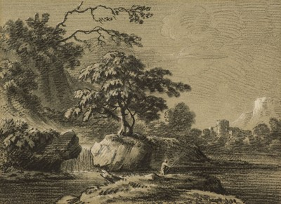 Lot 361 - Devis (Anthony, 1729-1817). River landscape with a castle in the distance