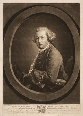 Lot 8 - Earlom (Richard, 1743-1822). Thomas Pownall mezzotint