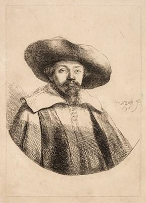 Lot 347 - Rembrandt van Rijn (Harmensz. 1606-1669). Samuel Manasseh Ben Israel, 1636, etching