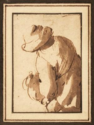 Lot 332 - Van Ostade (Adriaen, 1610-1685). Peasant seen from behind and Biblical scene