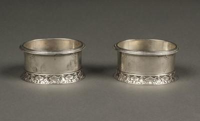 Lot 10 - American Silver. Pair of silver salts by Moses Eastman, Savannah circa 1830