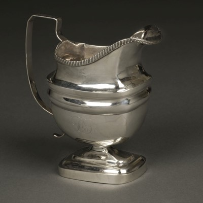 Lot 9 - American Silver. Milk jug by John Owen, Philadelphia circa 1805