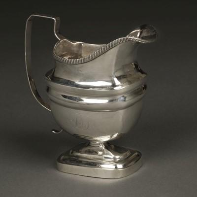 Lot 5 - American Silver. Milk jug by John Owen, Philadelphia circa 1805