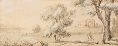 Lot 312 - De Cort (Hendrik Frans, 1742-1810). Landscape with figure on horseback