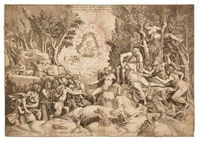 Lot 340 - Ghisi (Giorgio, 1520-1582). The Death of Procris, after Julio Romano, Rome, circa 1600