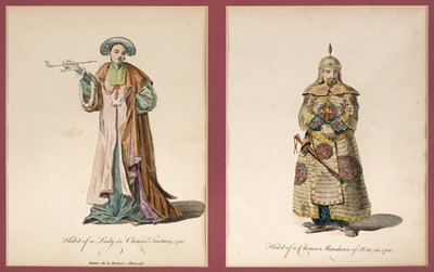 Lot 6 - China. Ten plates from A Collection of the Dresses of Different Nations, 1757-72, and 1 other