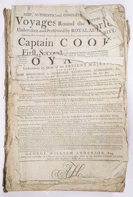 Lot 7 - Cook (James). A New, Authentic, and Complete Collection of Voyages Round the World, [1784?]