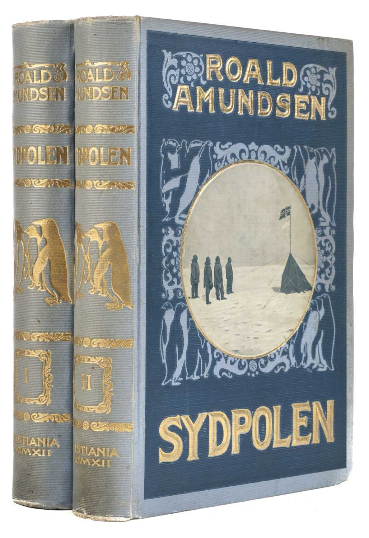 Lot 2 - Amundsen (Roald). Sydpolen, 2 volumes, 1st edition, Oslo, 1912