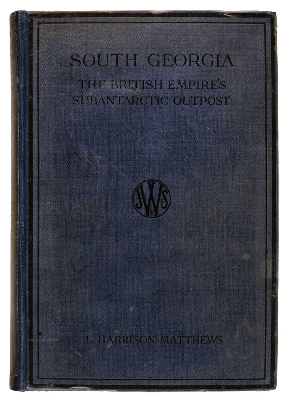 Lot 18 - Matthews (L. Harrison). South Georgia, 1st edition, 1931