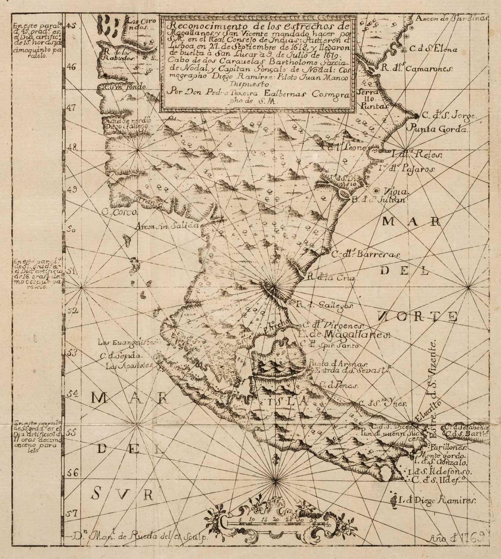 Lot 23 - Nodal (B. G. & G. de). Relacion del viage al descrubimento del estrecho de San Vicente, 1769