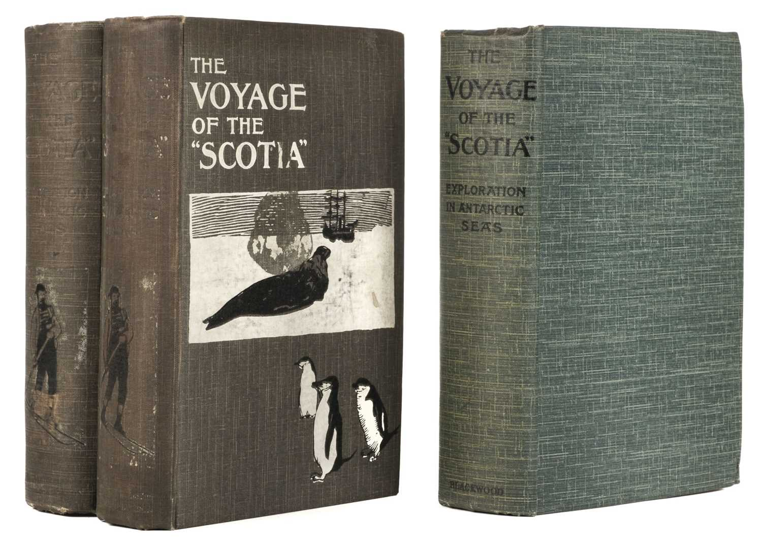 "Lot 7 - Brown (R. N. Rudmose). The Voyage of the ""Scotia"", 3 copies, 1st editions, 1906"