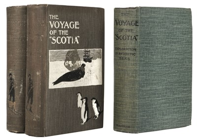 """Lot 7 - Brown (R. N. Rudmose). The Voyage of the """"Scotia"""", 3 copies, 1st editions, 1906"""