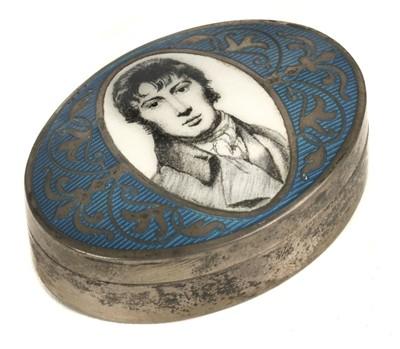 Lot 24 - Constable (John, 1776-1837). Silver and enamel box
