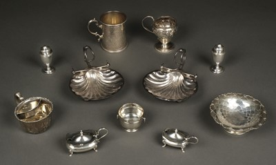 Lot 37 - Mixed Silver. Victorian silver mug and other items