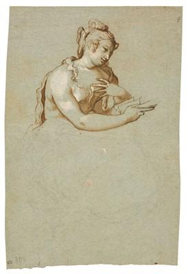 Lot 317 - Farinati (Paolo, 1524-1606). Head and torso of a femal nude seated