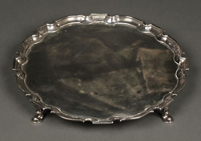 Lot 41 - Salver. George II silver salver by Robert Abercromby, London  1733