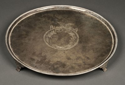 Lot 43 - Salver. George III silver salver by Richard Rugg, London 1782