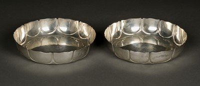 Lot 16 - Bowls, Edwardian silver bowls by E. Barnard & Sons, London 1903