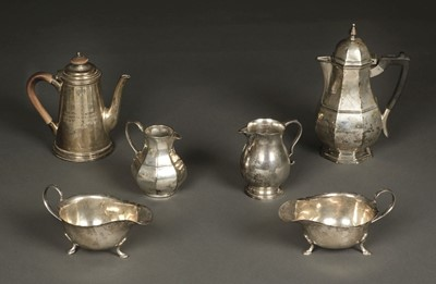 Lot 33 - Mixed Silver. A heavy-gauge coffee pot and other items