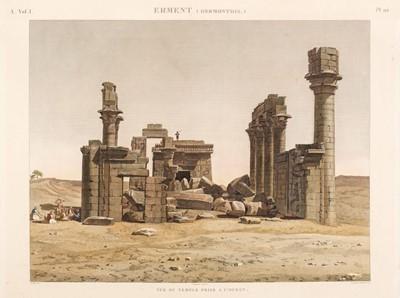 Lot 10 - Egypt. 10 views on 8 sheets from Description de l'Egypt, 1809-22.
