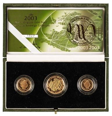 Lot 48 - Coins. Great Britain. Elizabeth II, Gold Proof Set, 2003