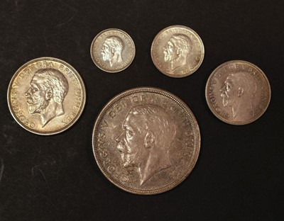 Lot 31 - Coins. Great Britain. George V part proof set, 1927