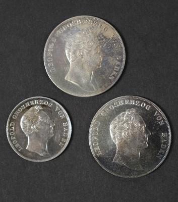 Lot 43 - Coins. Grand Duchy of Baden. Gulden and Half Gulden