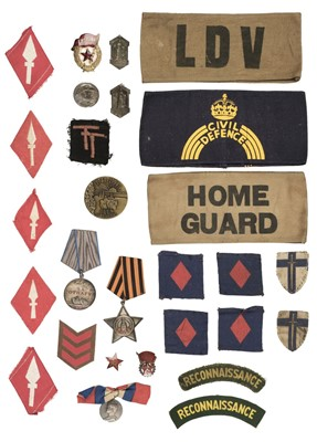 Lot 393 - Soviet Union. Russian Medal for Courage and other items