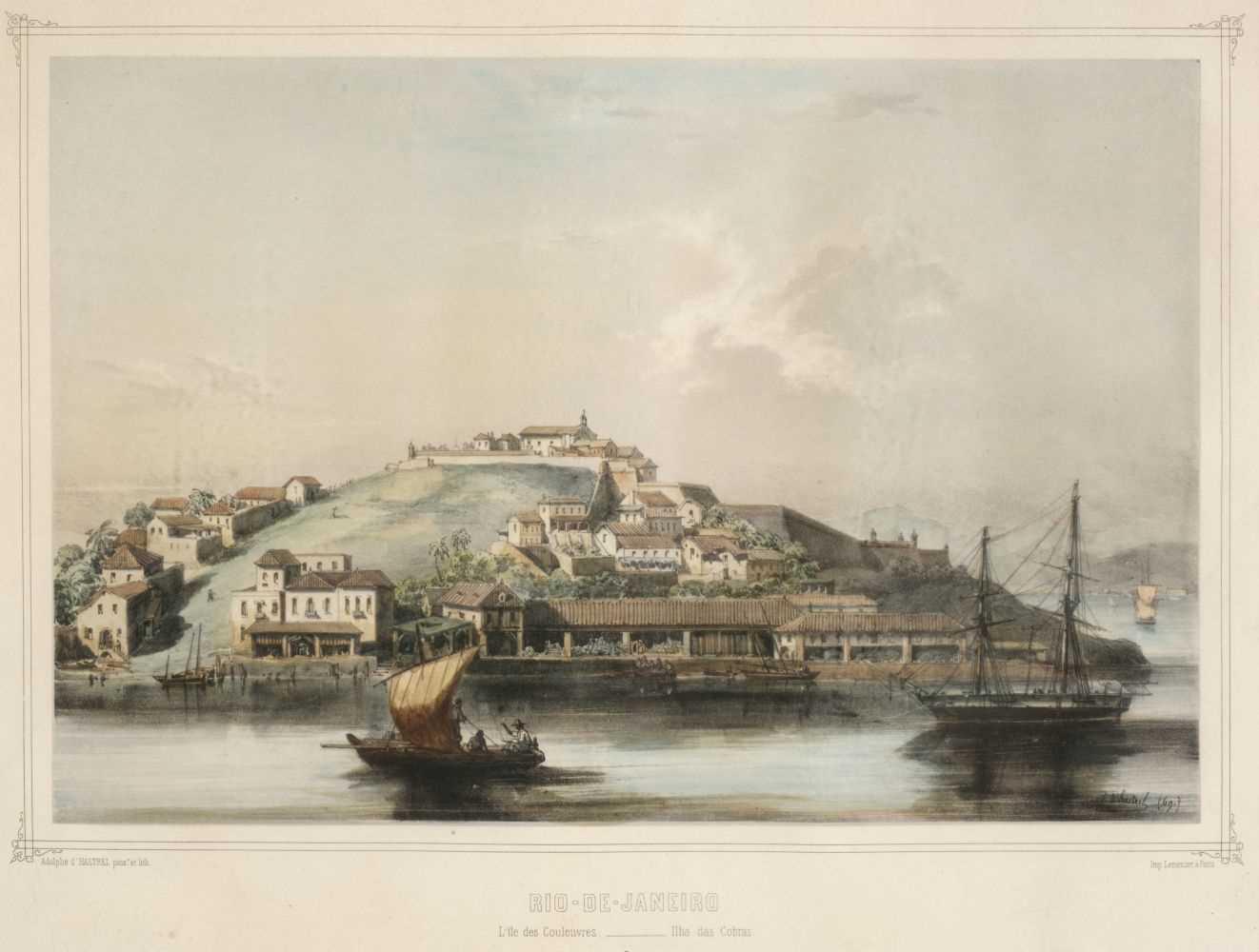 Lot 15 - Hastrel (Adolphe d', 1805-1875). Rio de Janeiro, 3 colour lithographs