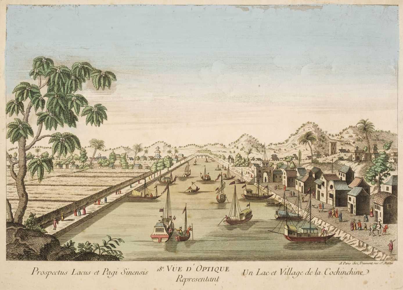 Lot 9 - Daumont (Jean Francois, 1740-1775). Prospectus Lacus et Pagi Sinensis, Paris circa 1760