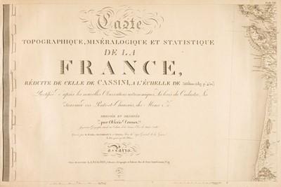 Lot 12 - France. Carte topographique minéralogique et Statistique de la France