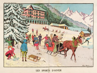 Lot 508 - Vallée (Georges, active 1897-1921). Les Sports d'Hiver