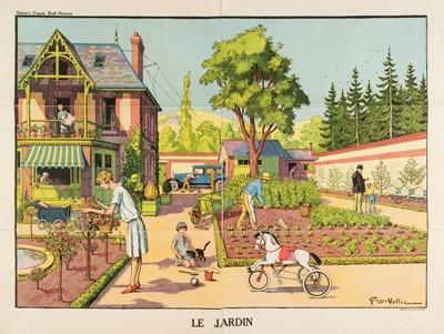 Lot 505 - Vallée (Georges, active 1897-1921). Le Jardin