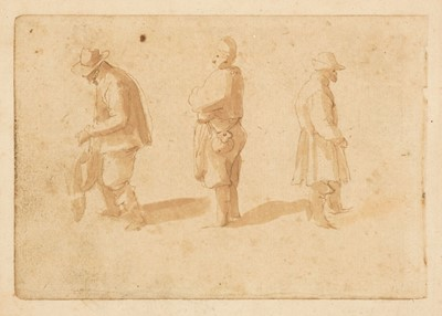 Lot 16 - Breughel (Jan, 1568-1625). Three Peasants, probably late 16th or early 17th century