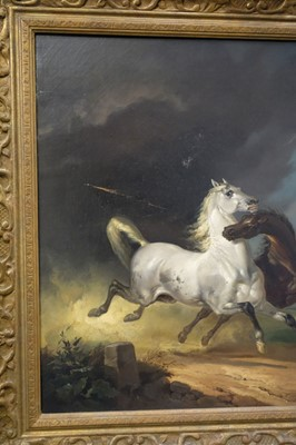 Lot 337 - English School. Horses at Play, and Horses Frightened, early-mid 19th century