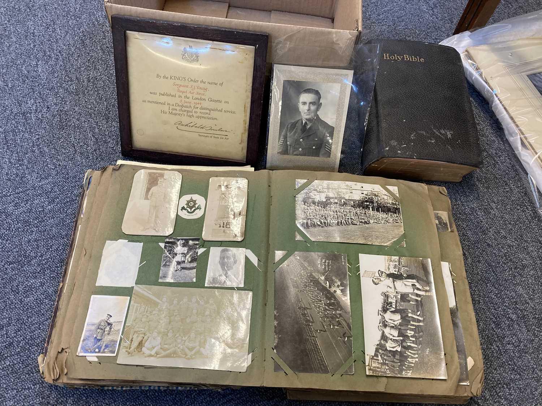 Lot 323 - Worcestershire Regiment - 1st Battalion. Scrap and Postcard Album