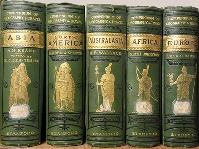 Lot 28 - Stanford (Edward [publisher]). Stanford's Compendium of Geography and Travel, 5 volumes, 1882-85