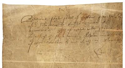 Lot 204 - Elizabeth I (1533-1603). Document Signed, 1562