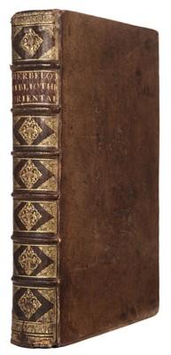 Lot 18 - Herbelot (Barthelémy d'). Bibliothèque orientale, 1st edition, 1697